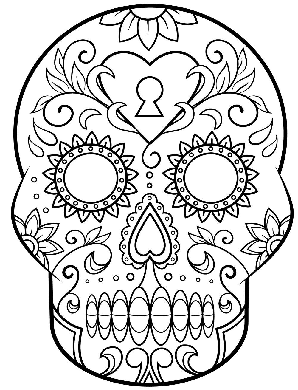 colorful sugar skull sugar skull coloring pages art is fun sugar colorful skull