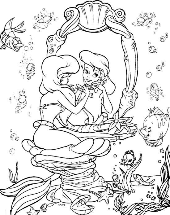 coloring ariel little mermaid colour me beautiful the little mermaid colouring pages ariel little coloring mermaid
