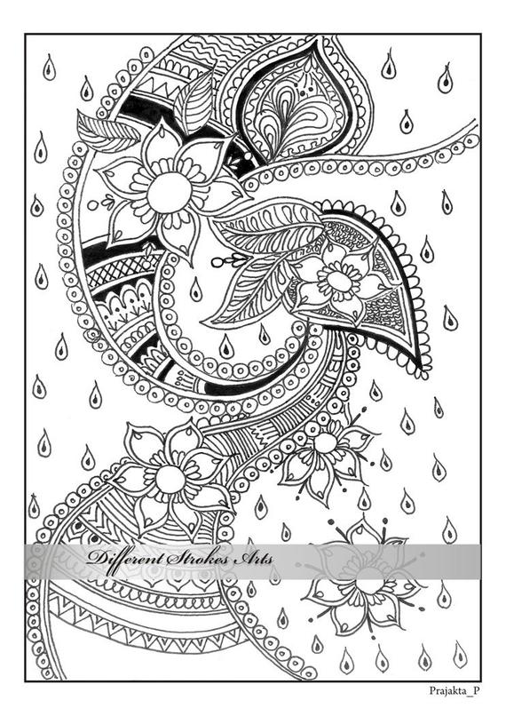 coloring book adults printable adult coloring pages henna art printable doodle intricate printable adults coloring book