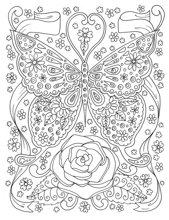 coloring book adults printable butterfly coloring page adult coloring book digital coloring book adults printable