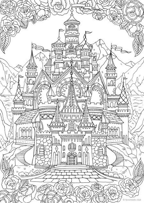 coloring book adults printable castle printable adult coloring page from favoreads coloring printable book adults