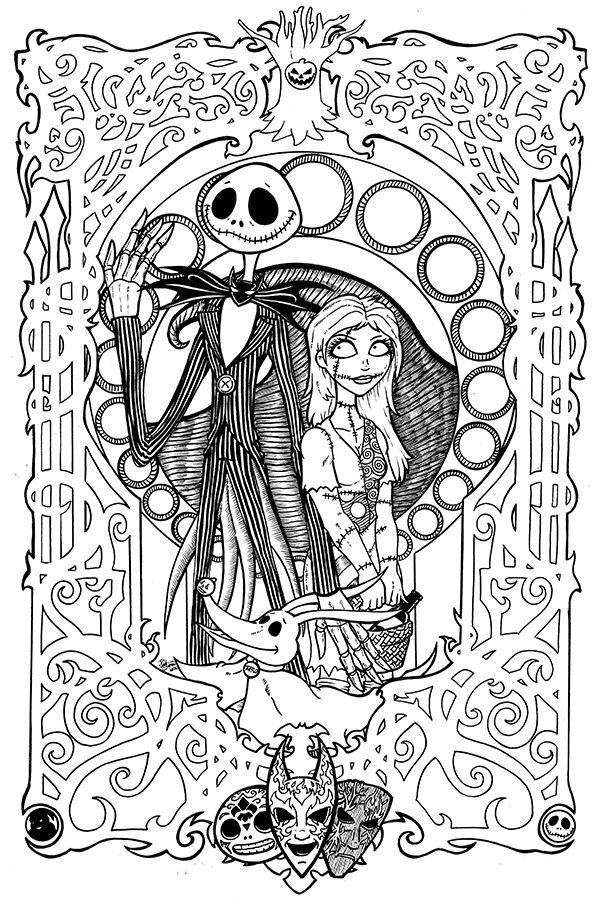 coloring book adults printable free printables nightmare before christmas coloring pages coloring book printable adults