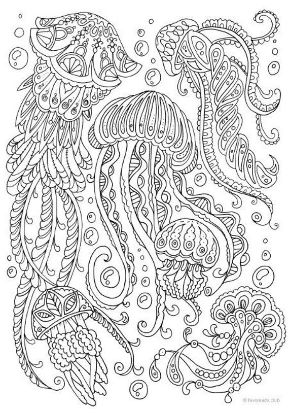 coloring book adults printable jellyfish printable adult coloring page from favoreads printable book coloring adults