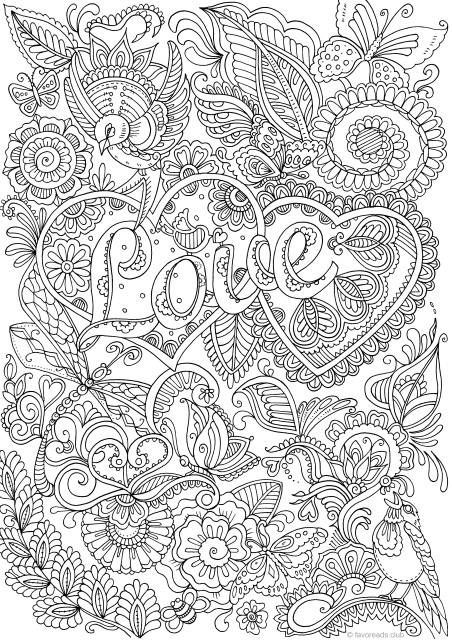 coloring book adults printable love in details printable adult coloring page from book coloring printable adults