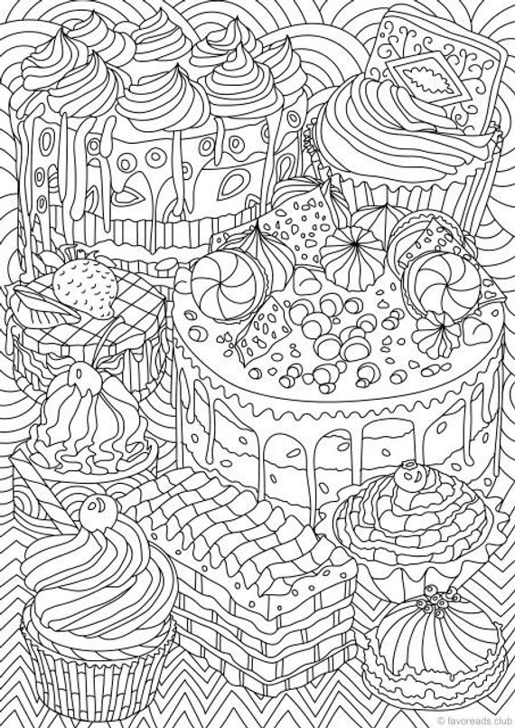 coloring book adults printable sweet treats printable adult coloring page from printable adults coloring book