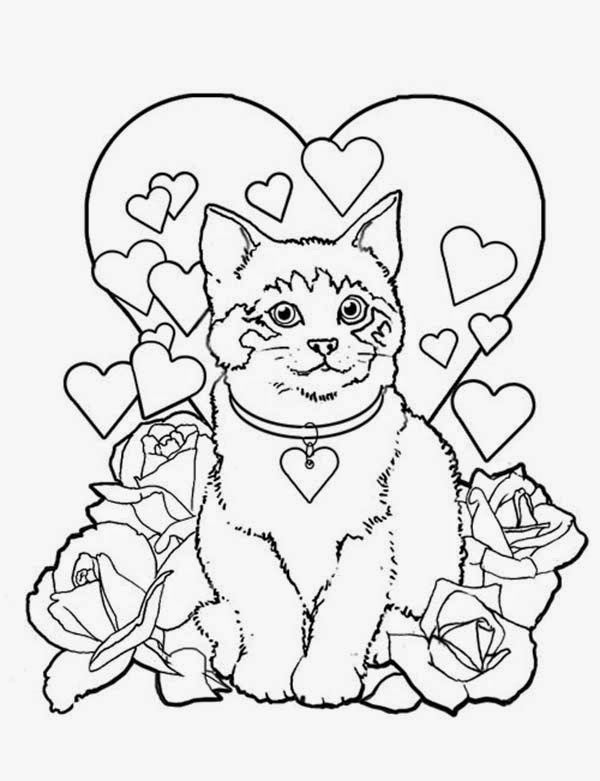coloring book cat free printable cat coloring pages for kids cool2bkids book coloring cat