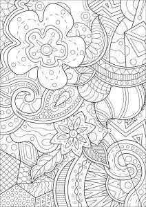 coloring book for adults souq coloriage page pour adultes avec mandala et détendre le souq for adults coloring book