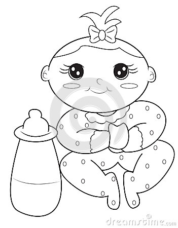 coloring book for babies baby girl coloring page stock illustration image 50479150 for babies book coloring