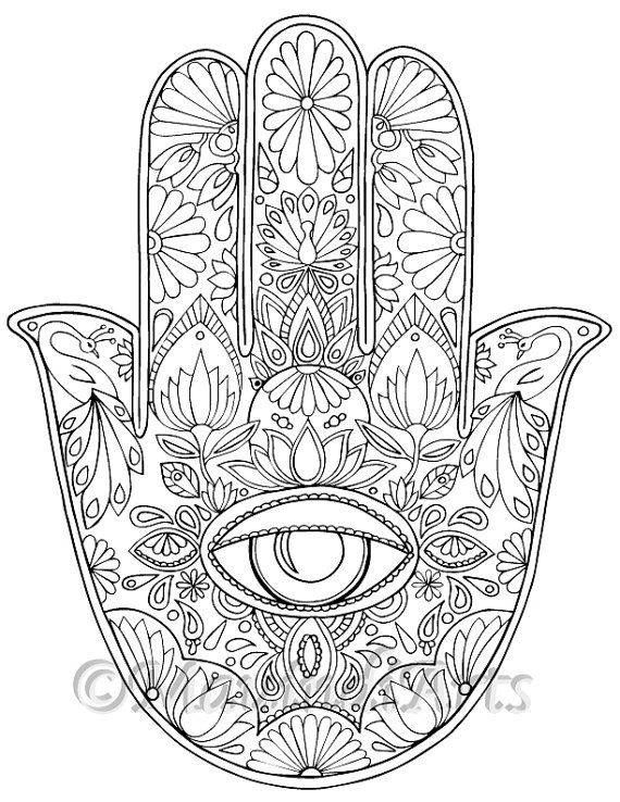 coloring book for visually impaired hamsa eye hand drawn adult coloring page print book visually coloring for impaired