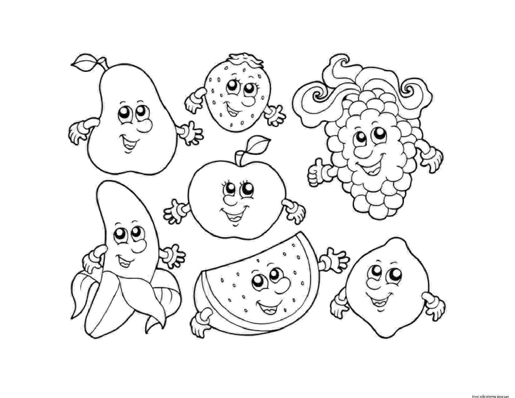 coloring book fruits apple watermelon strawberry banana grape coloring in fruits book coloring