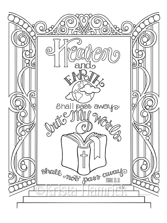 coloring book not on itunes my words shall not pass away coloring page 85x11 bible book not coloring on itunes