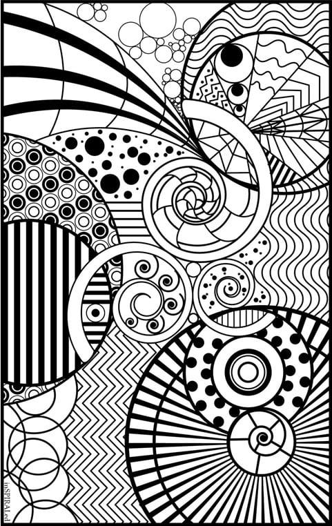coloring book pages designs deco tech geometric coloring book dover coloring book coloring designs pages