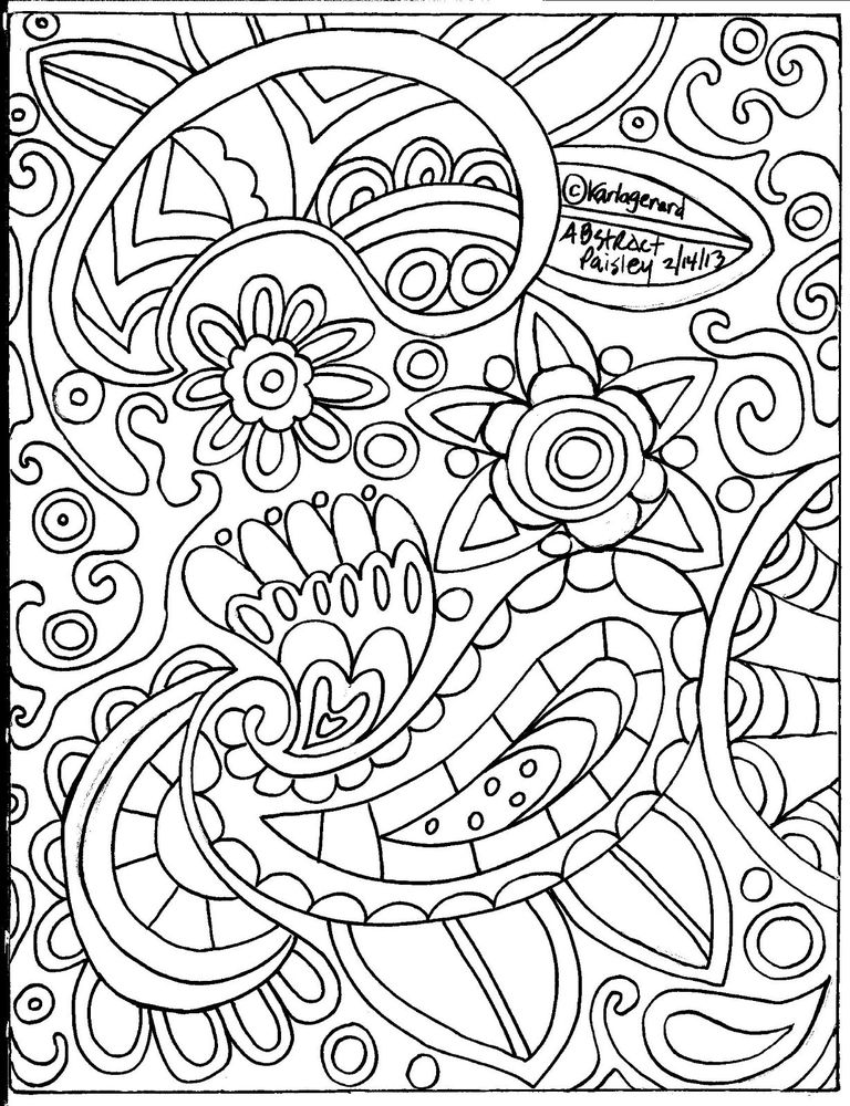 coloring book pages designs rug hooking paper pattern abstract paisley folk art unique pages designs book coloring