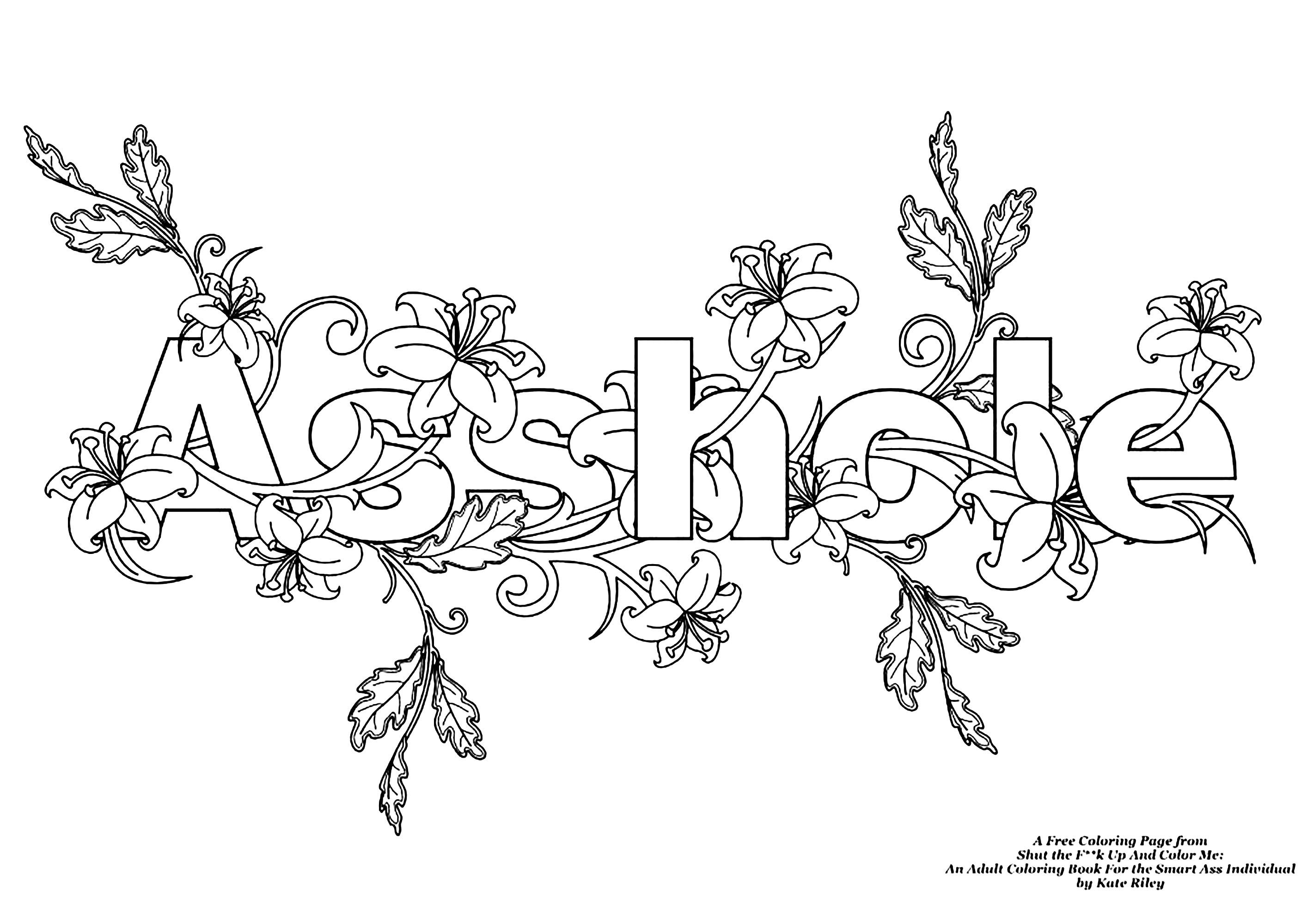 coloring books for adults bad words assholeswear word coloring page swear word adult coloring bad for adults words books