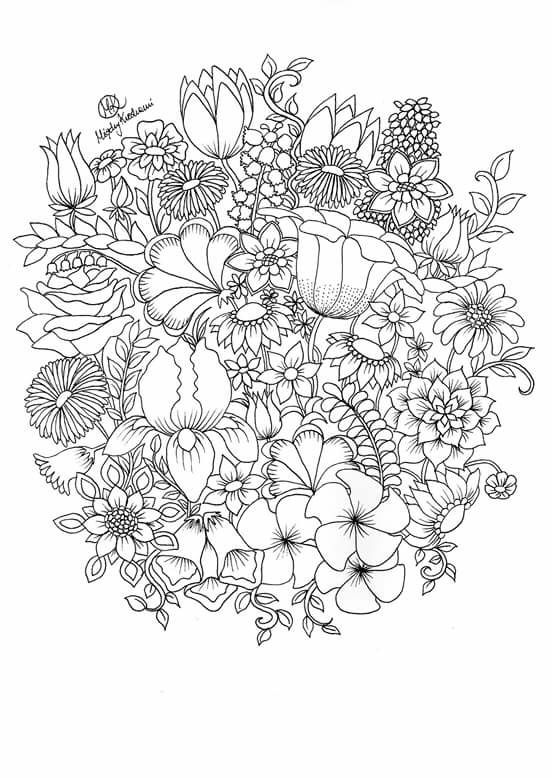 coloring books for adults flowers adult coloring page petunias the graphics fairy for flowers books coloring adults