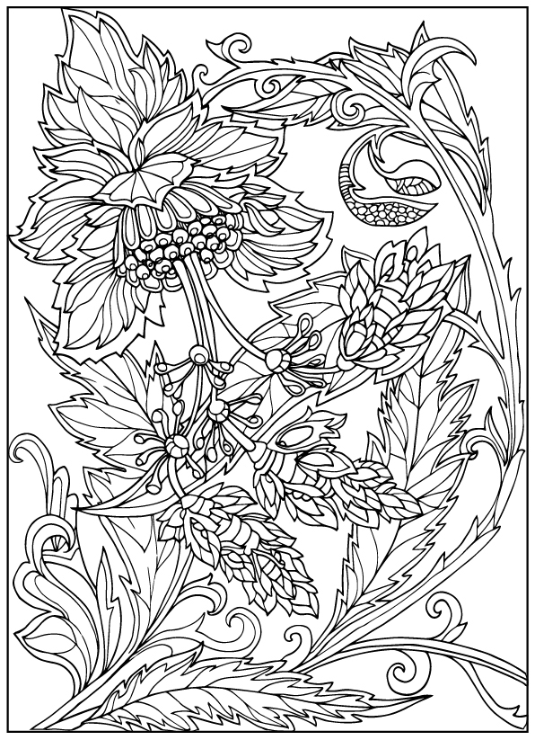 coloring books for adults flowers flower coloring pages for adults best coloring pages for adults for coloring books flowers