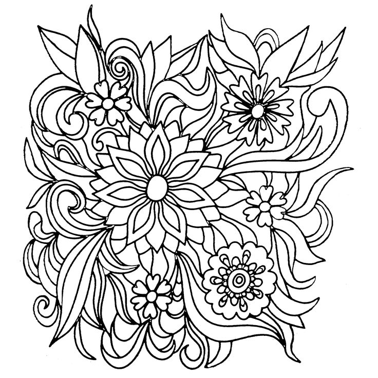 coloring books for adults flowers vintage flower coloring pages on behance adults books flowers coloring for