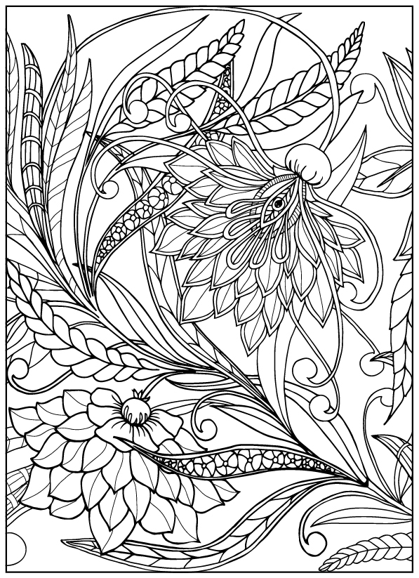 coloring books for adults flowers vintage flower coloring pages on behance books flowers for adults coloring