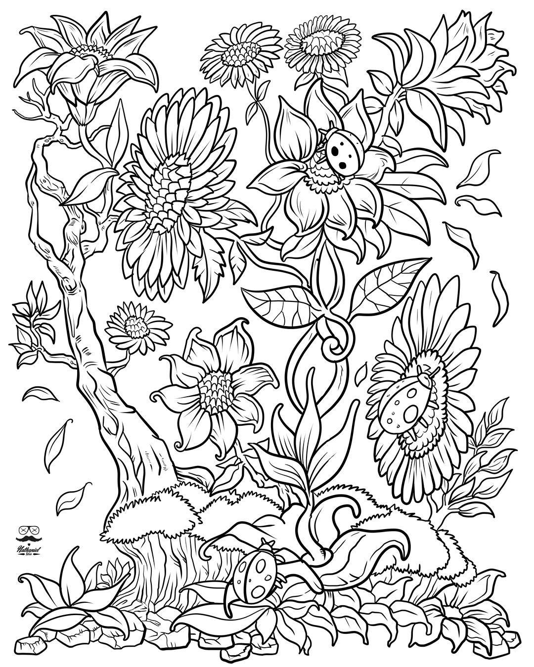 coloring books for adults flowers vintage flower coloring pages on behance coloring books flowers adults for