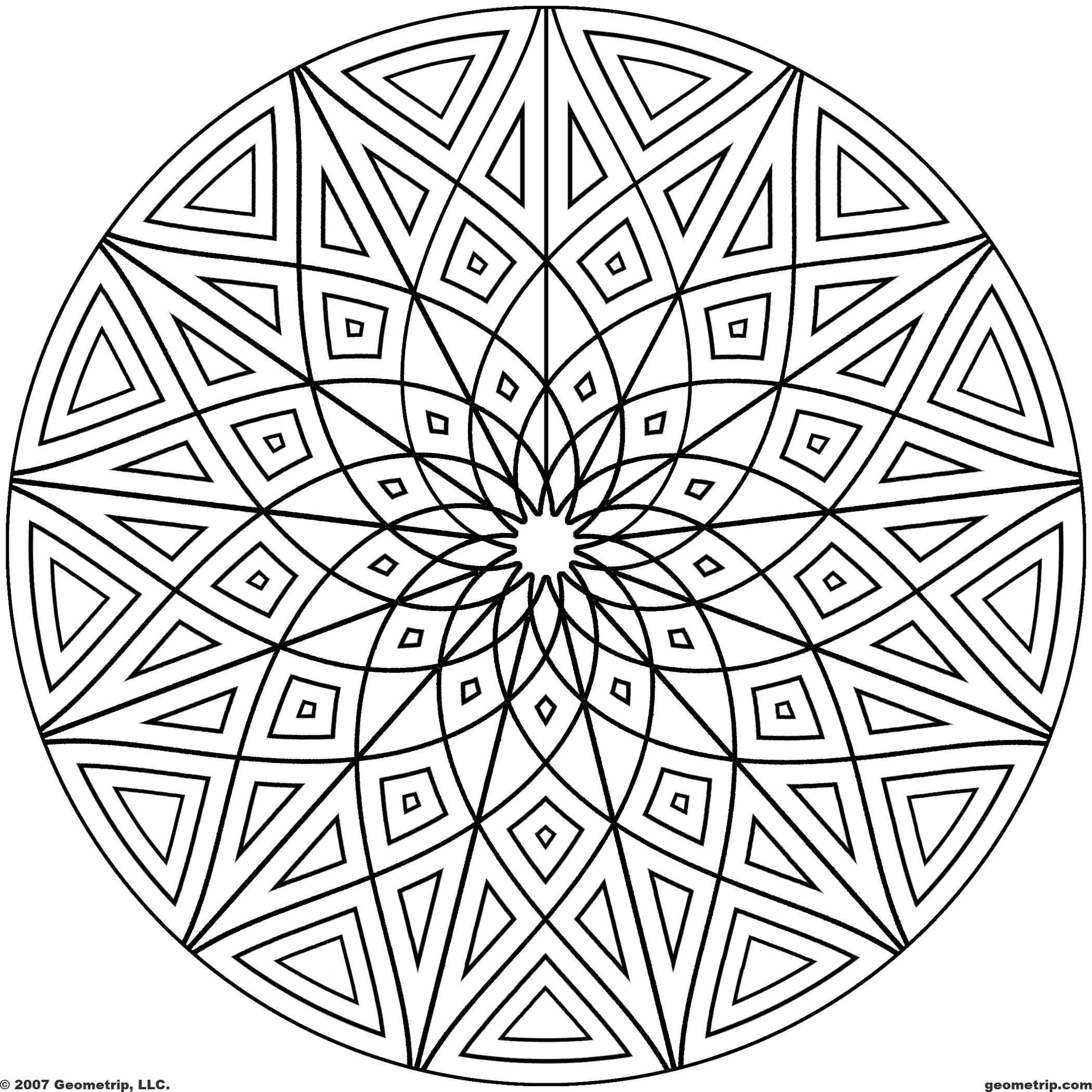 coloring circle patterns cool geometric designs coloring page for free circles patterns circle coloring