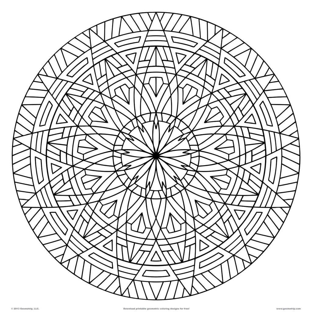 coloring circle patterns geometric coloring pages make them fresh and colorful patterns coloring circle