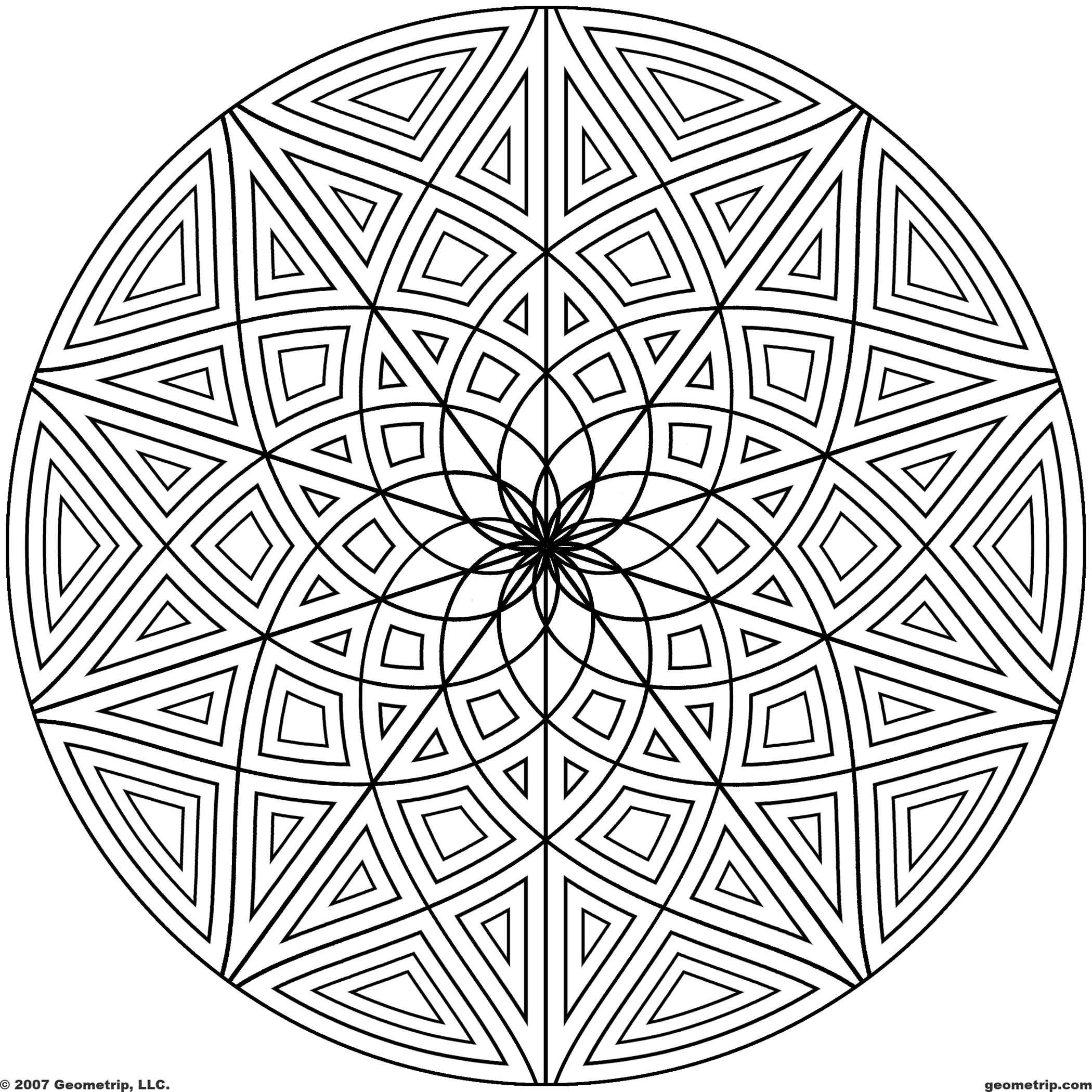 coloring circle patterns images of printable hard geometric coloring pages patterns coloring circle