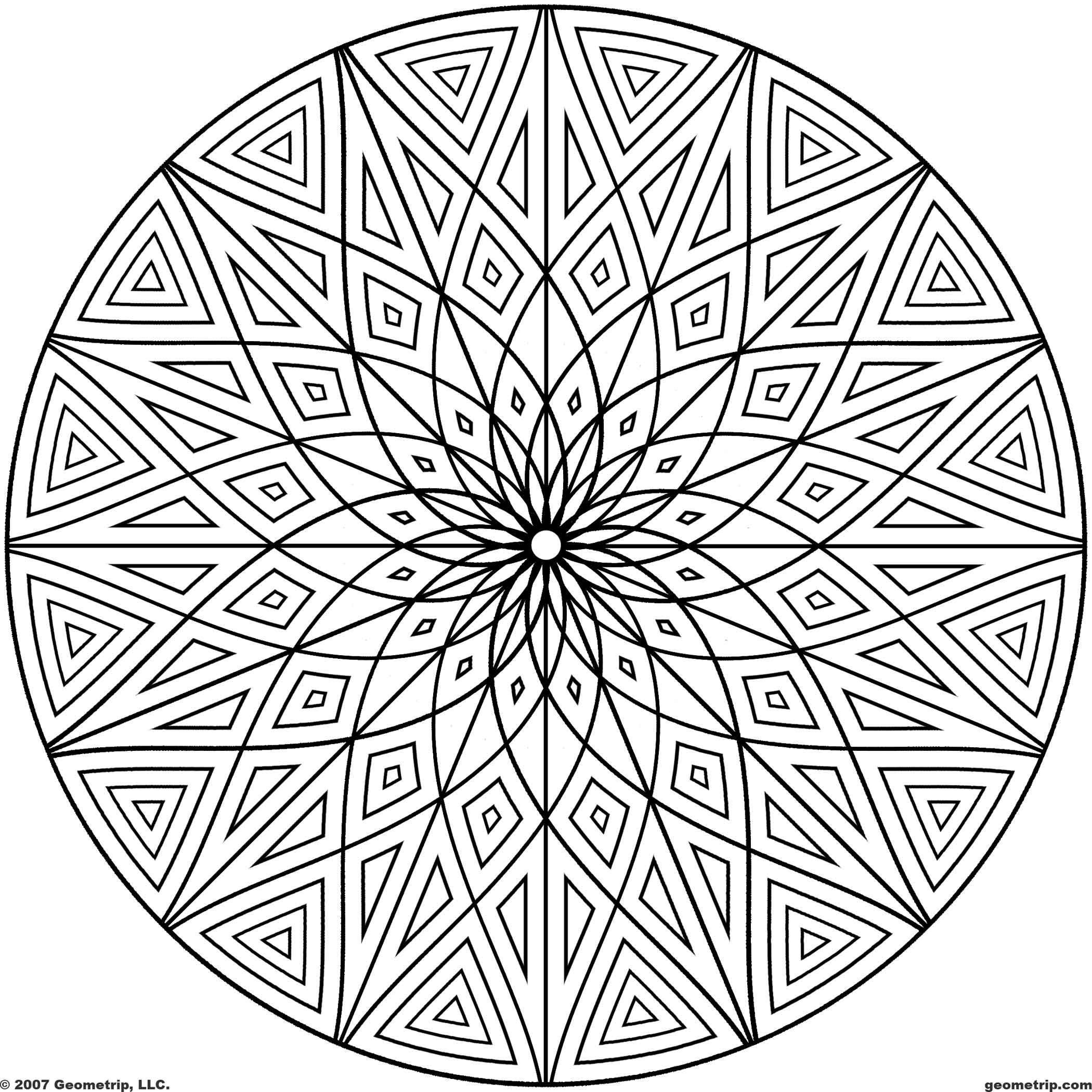 coloring circle patterns printable geometric patterns geometripcom free coloring patterns circle