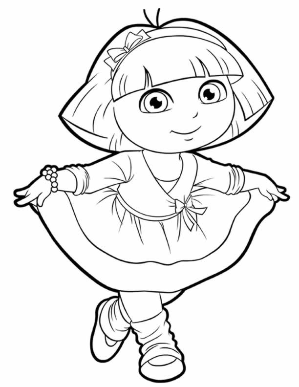 coloring dora free printable dora coloring pages for kids cool2bkids dora coloring