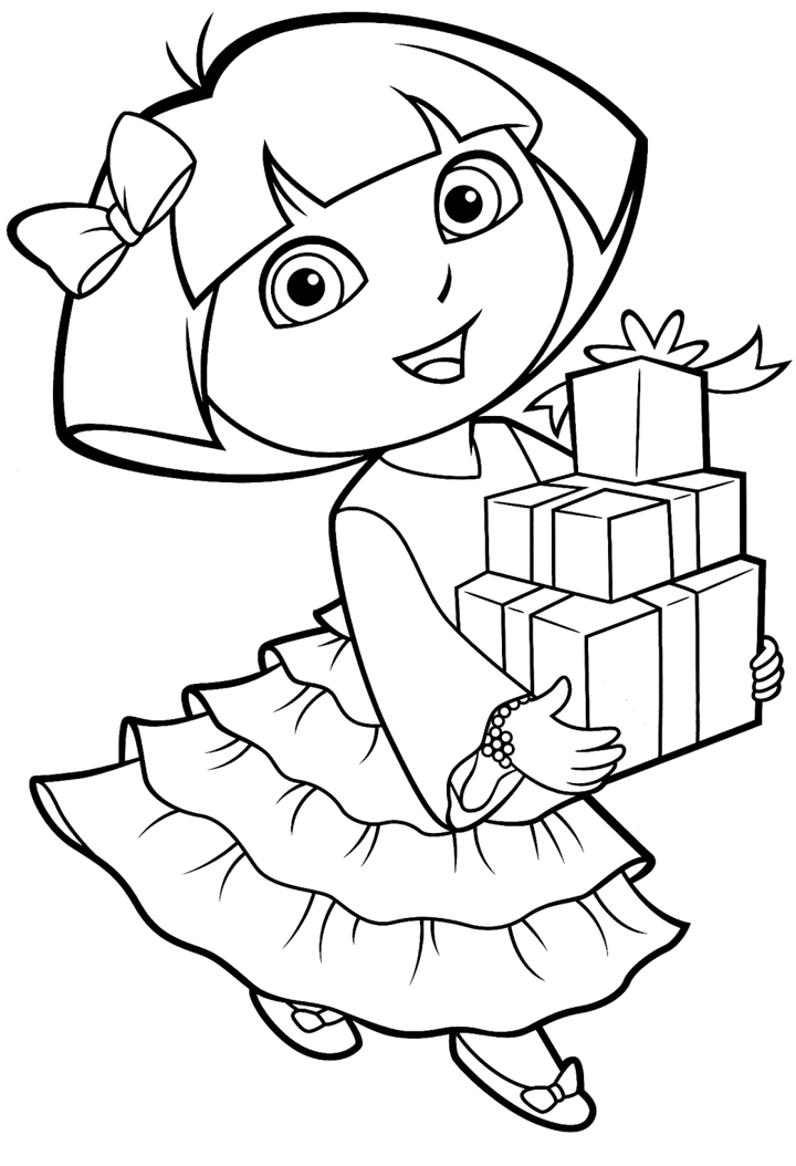 coloring dora free printable dora the explorer coloring pages for kids dora coloring