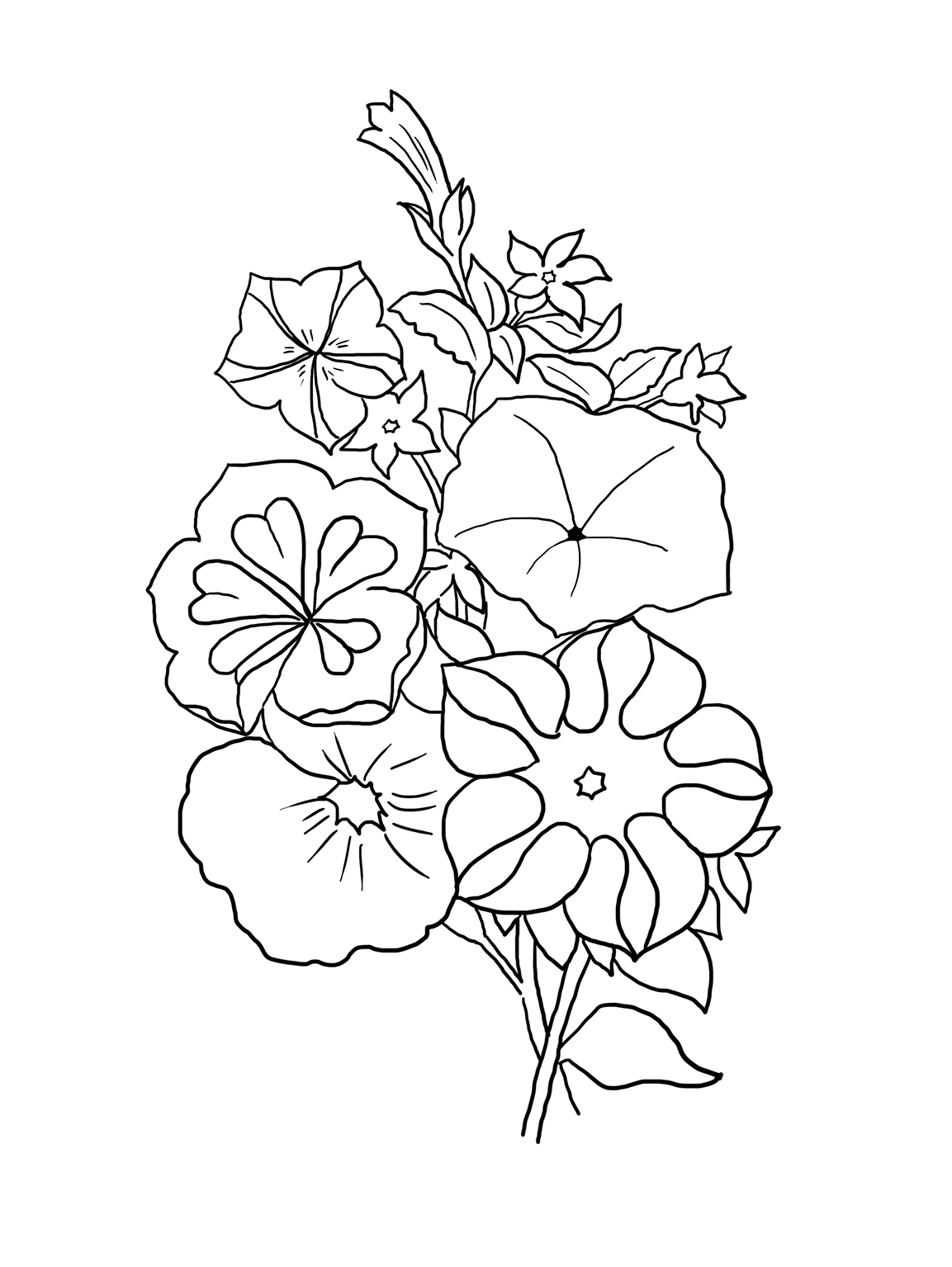 coloring flower flower coloring pages coloring flower