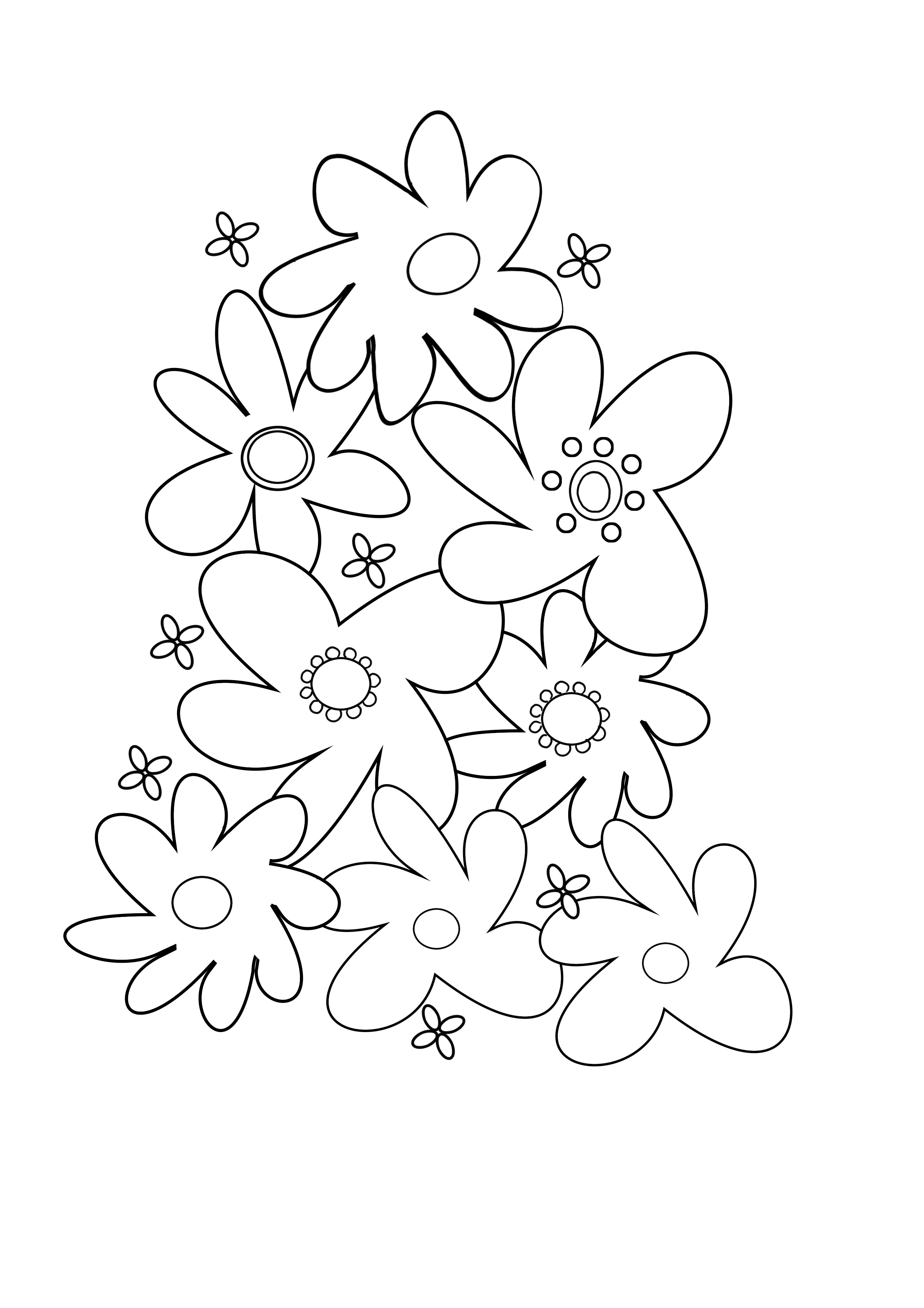 coloring flower free printable flower coloring pages for kids best flower coloring 1 1