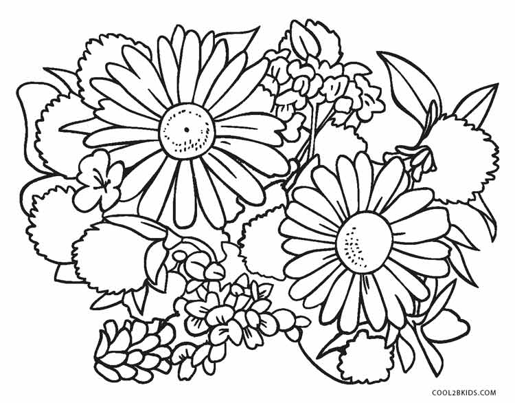 coloring flower spring flower coloring pages to download and print for free coloring flower