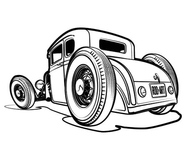 coloring hot rod hot rod outline pictures to pin on pinterest pinsdaddy rod coloring hot