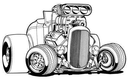 coloring hot rod rat fink coloring pages coloring pages rod coloring hot