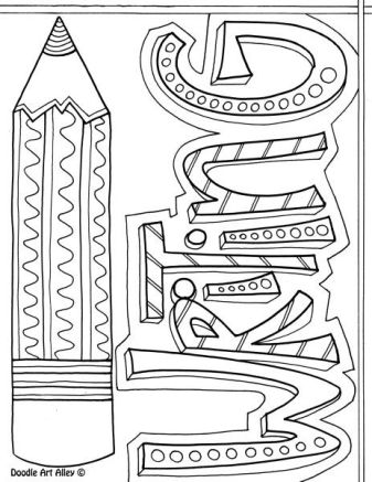 coloring ideas for home subject cover pages coloring pages classroom doodles coloring ideas for home