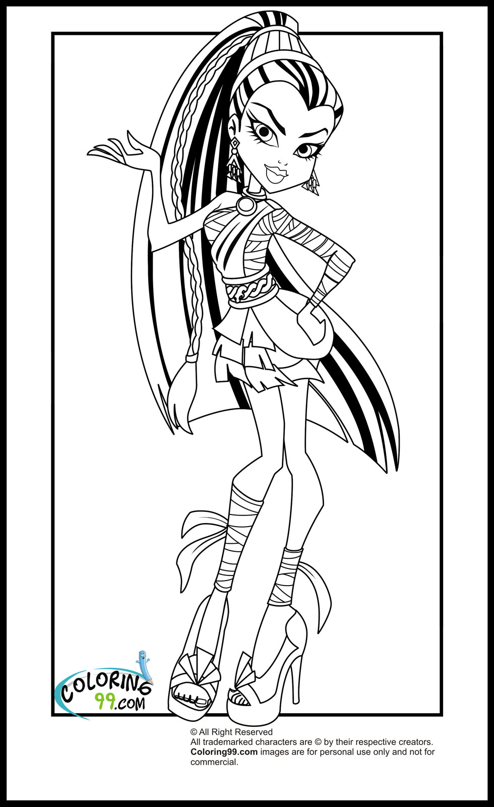 coloring monster high clawdeen wolf monster high coloring pages coloring high monster