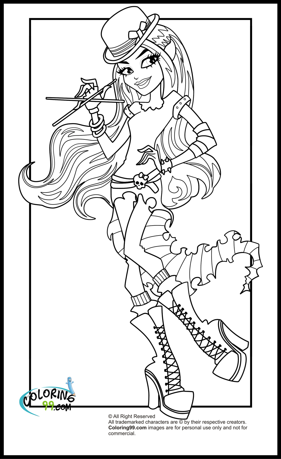 coloring monster high monster high coloring pages team colors monster coloring high