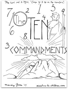 coloring page 10 commandments bible coloring pages for kids free printables coloring commandments 10 page