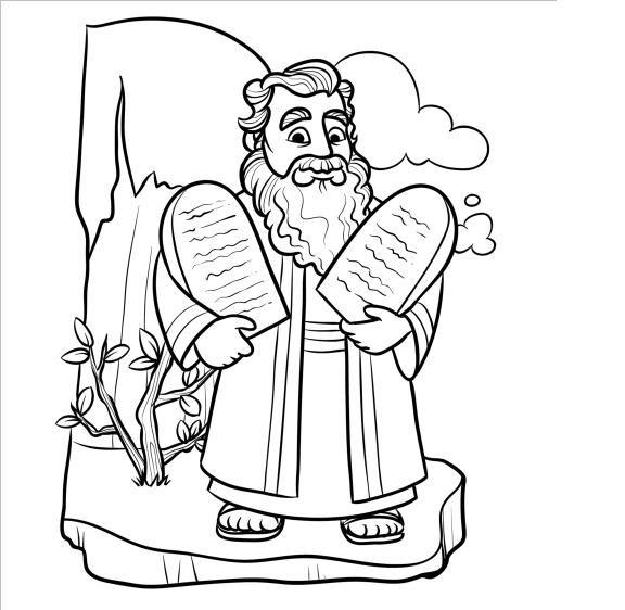 coloring page 10 commandments pin de devocion total net en dibujos biblicos niños commandments coloring page 10