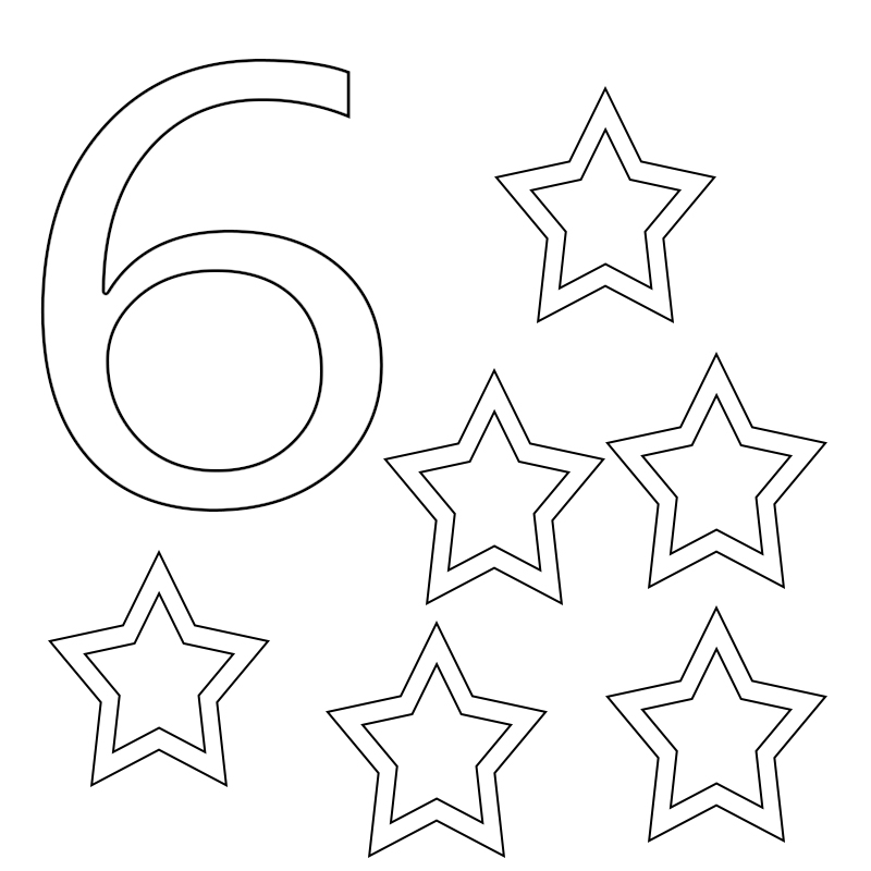 coloring page for 6 number coloring pages for preschoolers coloring home 6 for coloring page