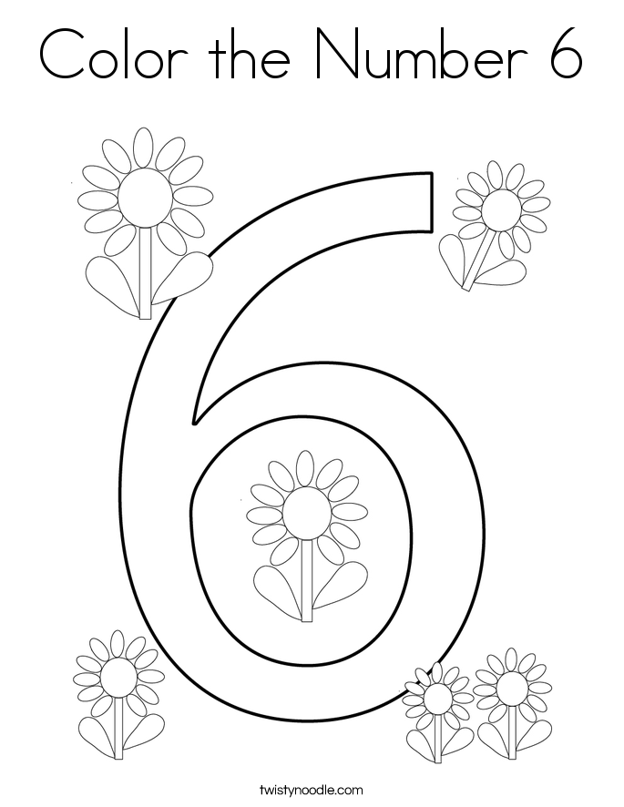 coloring page for 6 six coloring page twisty noodle 6 page for coloring