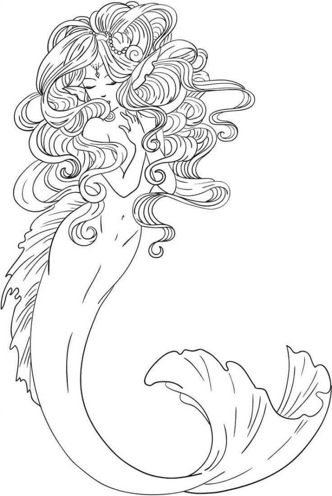 coloring page mermaid printable little mermaid coloring pages page mermaid coloring