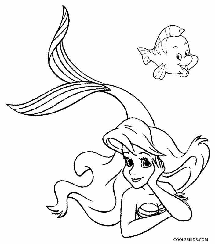 coloring page mermaid printable mermaid coloring pages for kids cool2bkids coloring mermaid page
