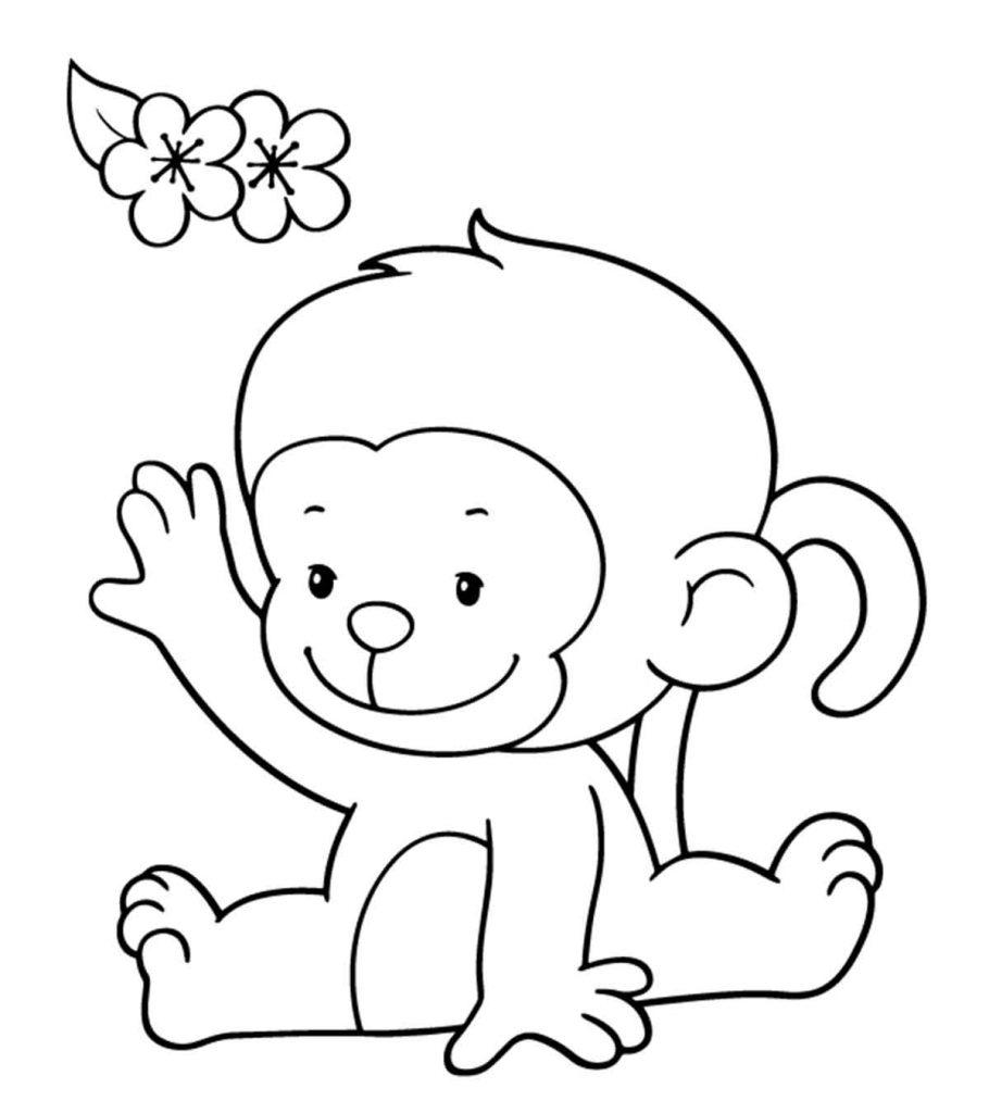 coloring page monkey free printable monkey coloring pages for kids cool2bkids coloring monkey page