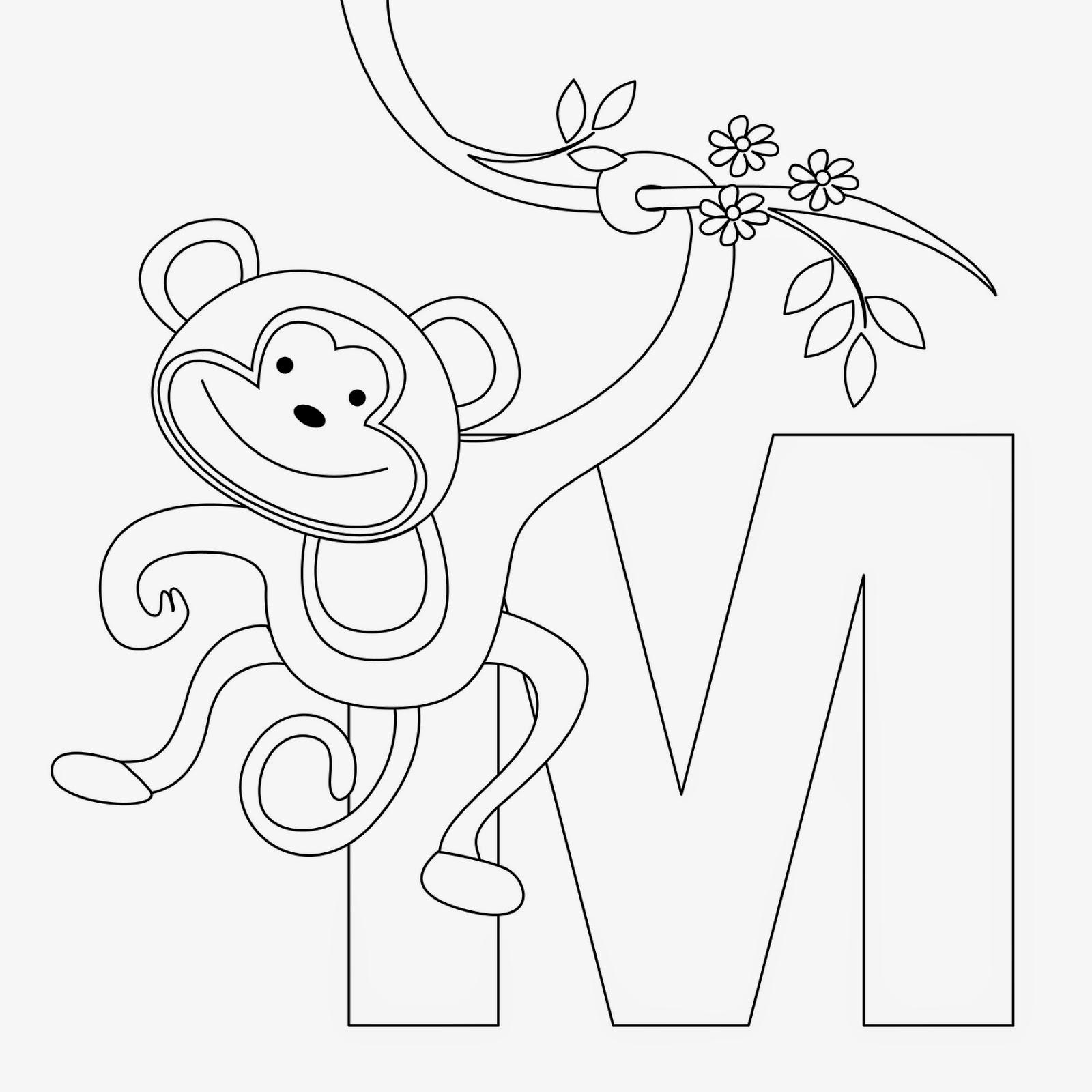 coloring page monkey free printable monkey coloring pages for kids cool2bkids page monkey coloring