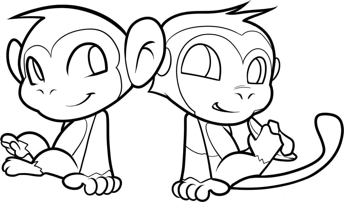 coloring page monkey free printable monkey coloring pages for kids monkey coloring page 1 1