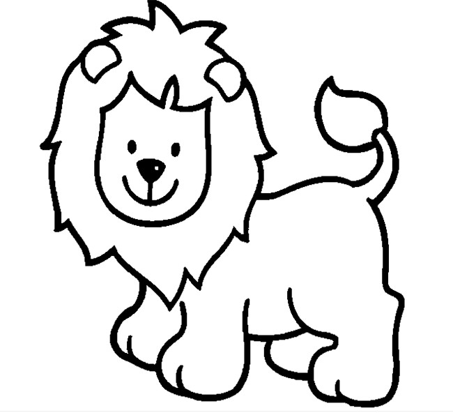 coloring page of a lion clip art cartoon animal faces lion bw abcteach lion page of coloring a