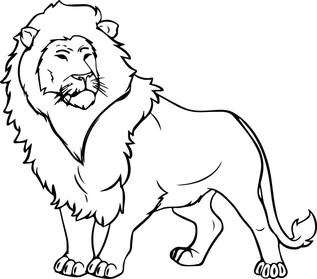 coloring page of a lion fun learn free worksheets for kid ภาพระบายส the lion of lion a page coloring