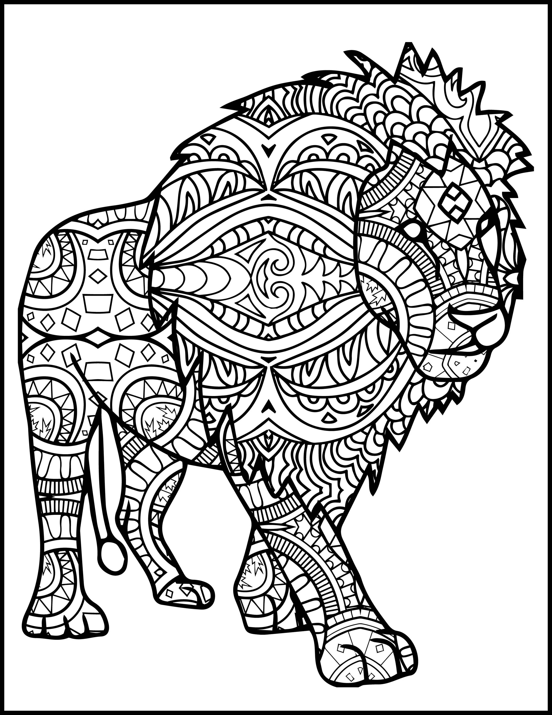 coloring page of a lion lion coloring pages to download and print for free of a coloring page lion