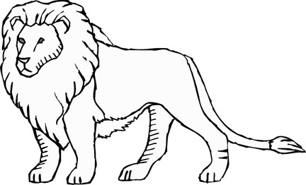 coloring page of a lion lion worksheet educationcom of a coloring lion page